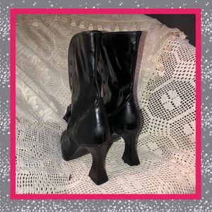 9b143c2eee6 CHANEL Shoes - Chanel Black Patent Leather Boots Size 38 USED